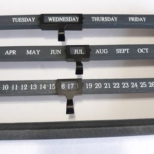 The Design House Accents - Wooden perpetual calendar, gray and white
